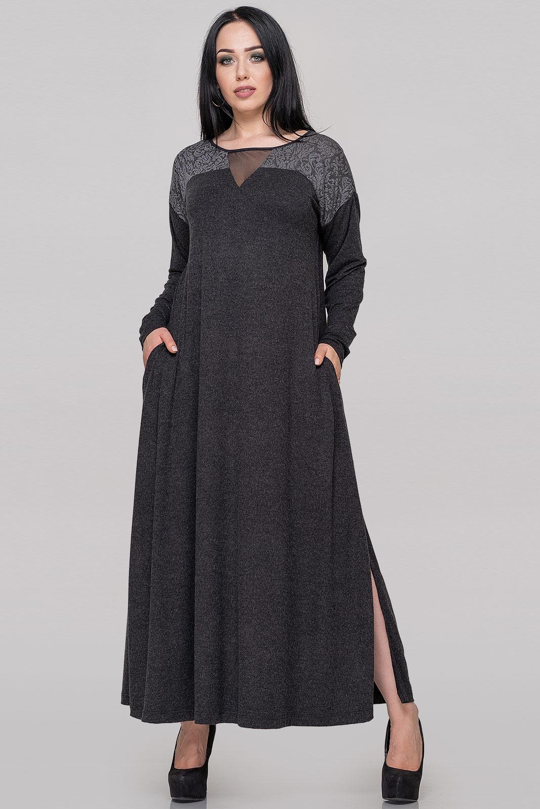 Платье оверсайз темно-серого цвета V&V  VVLEN